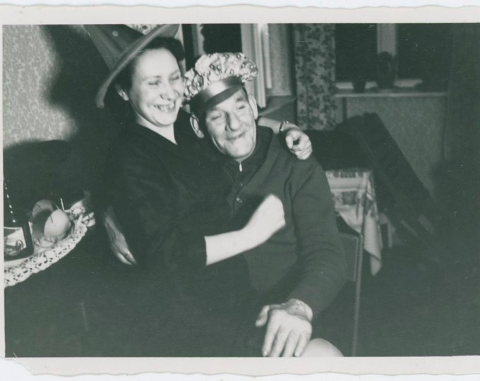 Vintage Snapshot Photo: Party Couple [810735]