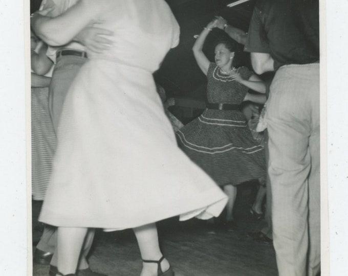 Vintage Snapshot Photo: Dance Floor, 1957 (88713)
