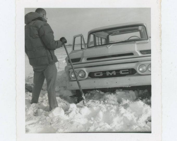 Vintage Snapshot Photo: Digging Out [82652]