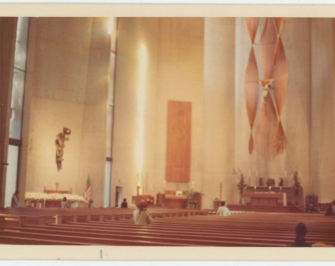 Vintage Snapshot Photo: Church Interior, 1972 (74566)