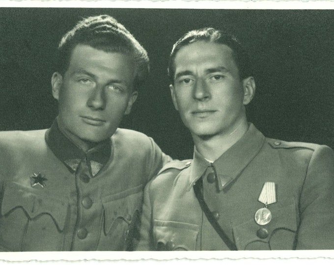 Yugoslavian Army Officers, 1945: Vintage Portrait Photo [89723]
