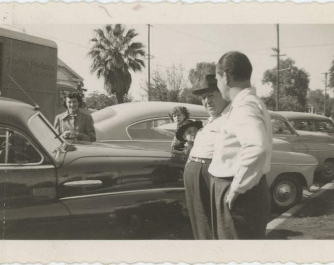 Vintage Snapshot Photo: On the Curb [84668]