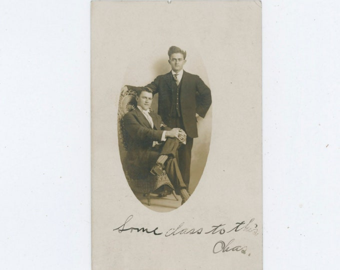 """Vintage Portrait Photo: """"Some Class to This, Chas"""" [810735]"""