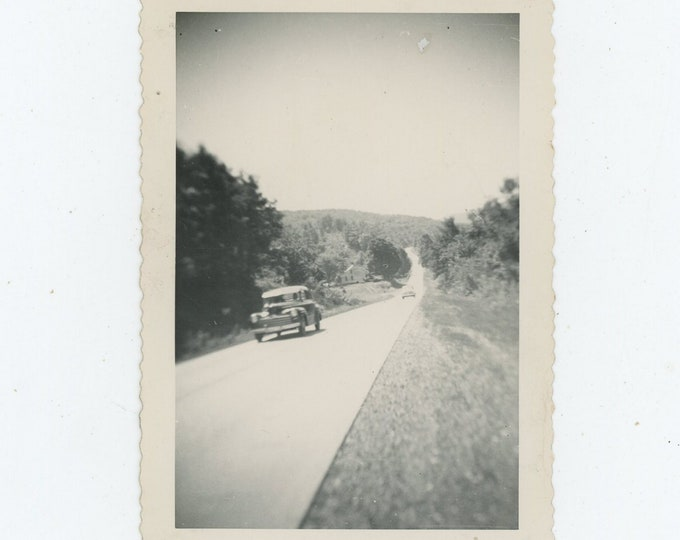 Vintage Snapshot Photo: Long Road, c1940s (88712)