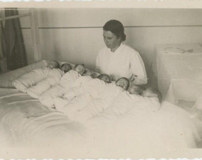 Maternity Hospital, 1948, Bulgaria: Vintage Snapshot Photo [811741]