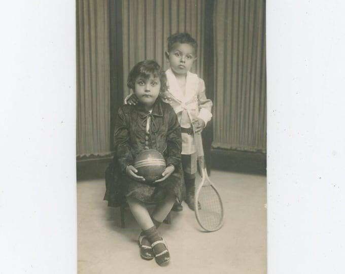 Vintage Portrait Photo, Egypt c1930s: Siblings [811742]