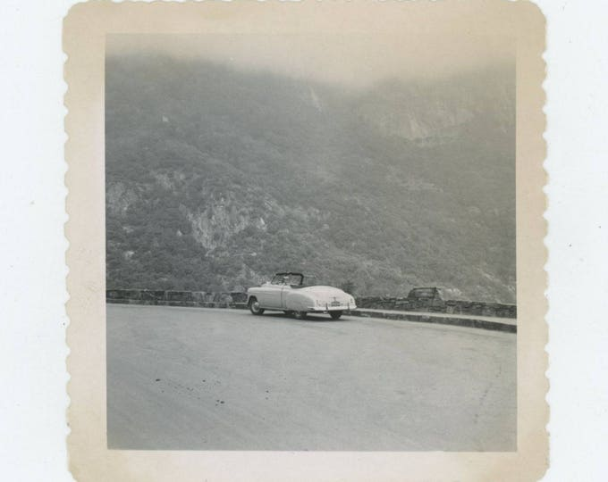 Vintage Snapshot Photo: Convertible, 1950s [82650]