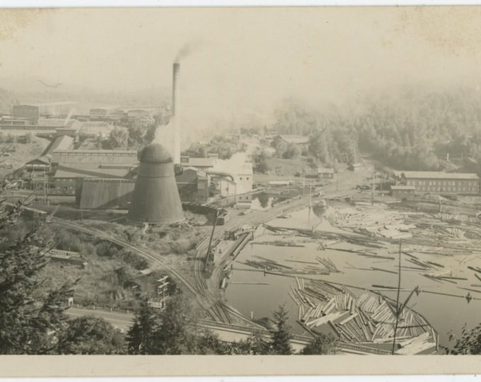 White River Lumber Co. Enumclaw, WA: Vintage Snapshot Photo c1920s-30s (88714)