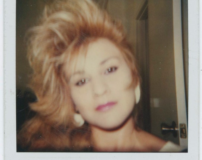 Wild Hair: Vintage SX-70 Polaroid Snapshot Photo (91767)