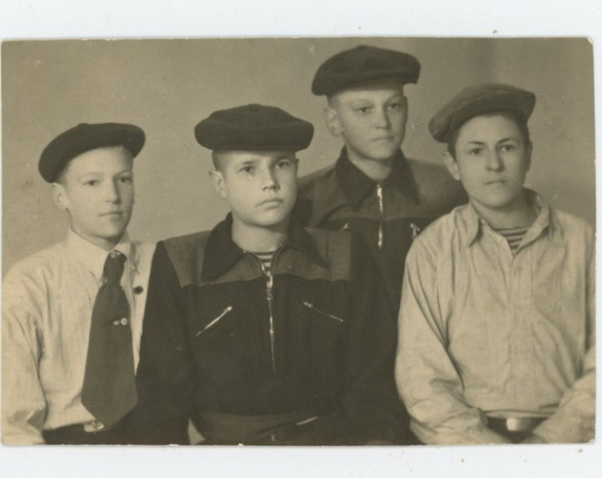 Fashionable Soviet Teens, 1950s: Vintage Snapshot Photo [89724]