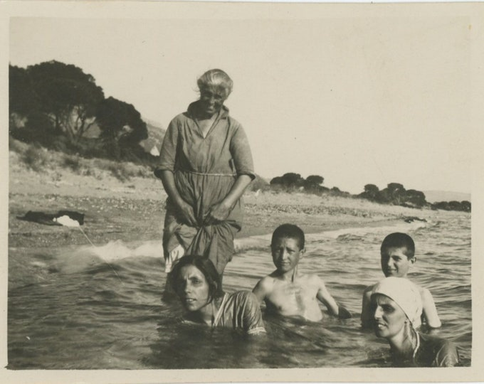 Vintage Snapshot Photo: Swimmers, Turkey, c1920s [88719]