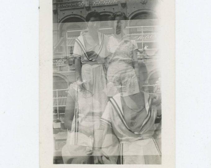 Double Exposure, 1936: Vintage Snapshot Photo [81646]