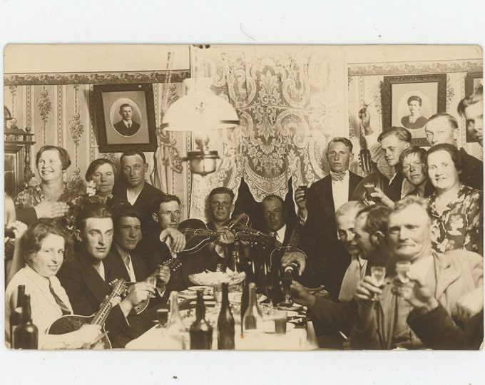 Vintage Snapshot Photo: Celebration, Latvia, 1931 (88711)