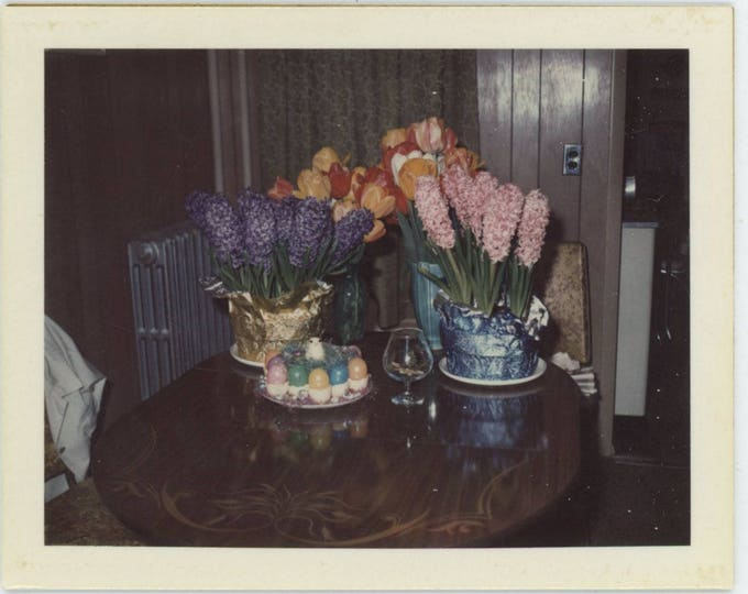Easter Flowers, 1973: Polaroid Land Snapshot Photo [82653]