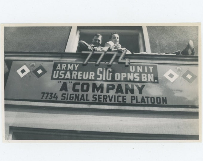 "Vintage Snapshot Photo: ""A"" Company [83656]"