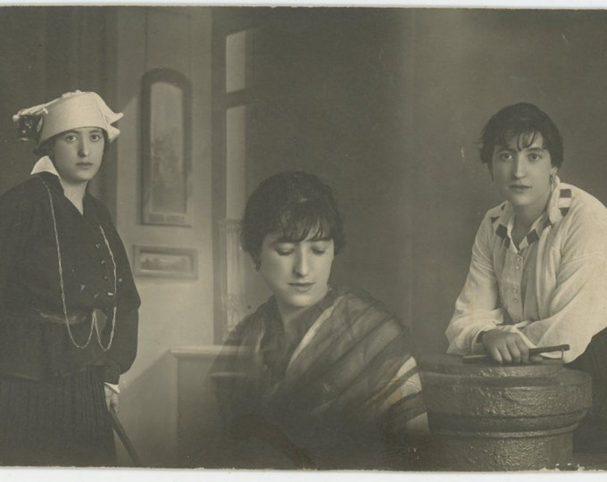 Vintage Snapshot Photo: Collage of Portraits of a Young Lady, Spain, 1920s  [89726]