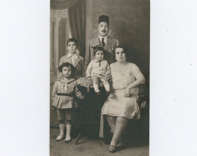 Family Portrait, Cairo, 1910s-20s Vintage Photo [91768]