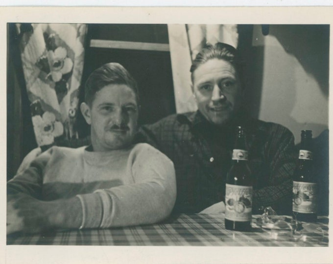 Vintage Snapshot Photo: Drinking Pfeiffer's Beers, 1950s [91766]