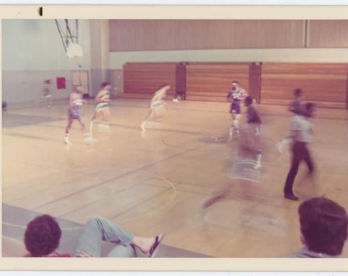 Vintage Snapshot Photo: Basketball Game, c1970s  [91764]