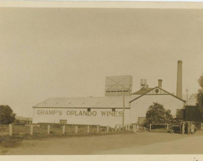 Gramp's Orlando Wines, c1930s: Vintage Snapshot Photo [82650]