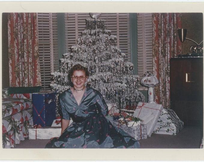 "Vintage 1958 Kodachrome Print Snapshot Photo: ""First Xmas in Calif. 1954 in Santa Cruz"" [811738]"