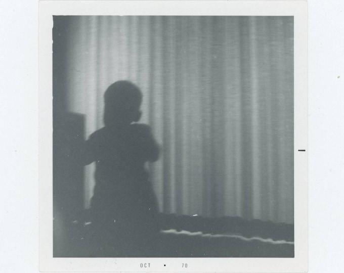Vintage Snapshot Photo: Silhouette, 1970 [82654]