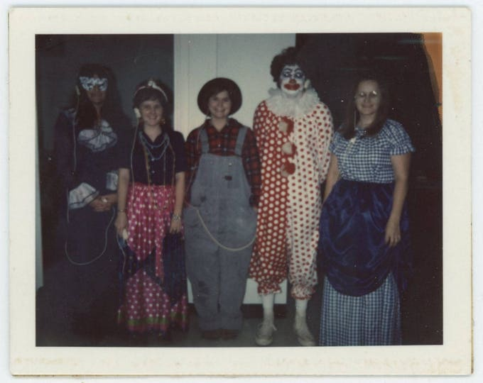 Vintage Polaroid Land Snapshot Photo: Fancy Dress Costumes (710614)