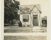 Tiny House, c1940s Vintage Photo Snapshot (57383)