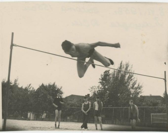 Vintage Snapshot Photo: High Jump, 1958 [Ht.155 cm.] USSR [811737]