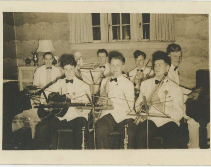 Vintage Snapshot Photo:Music Combo [82648]