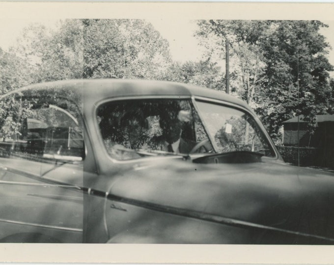 Windshield, 1948: Vintage Snapshot Photo [86680]