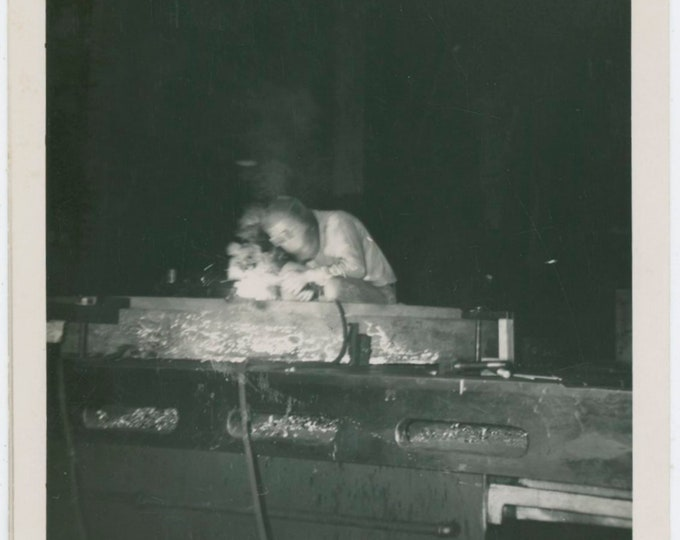Vintage Snapshot Photo: Welder [812754]