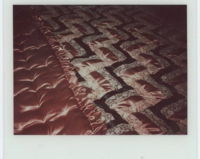 Bedspread: Vintage Kodak Instant Film Snapshot Photo [81645]
