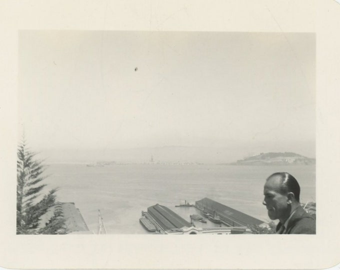 Vintage Snapshot Photo: View from Telegraph Hill, San Francisco, c1940s [89721]