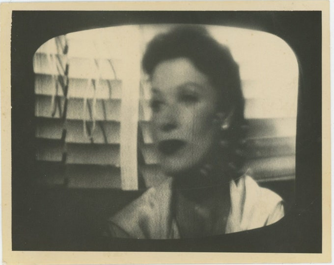 Vintage Snapshot Photo: TV Screenshot, c1950s [93792]