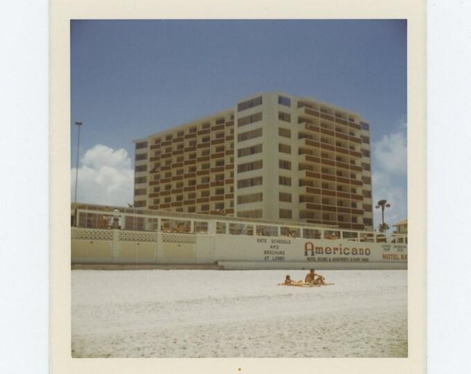 Americano Hotel, Daytona Beach, FL, 1973: Vintage Snapshot Photo (72548)
