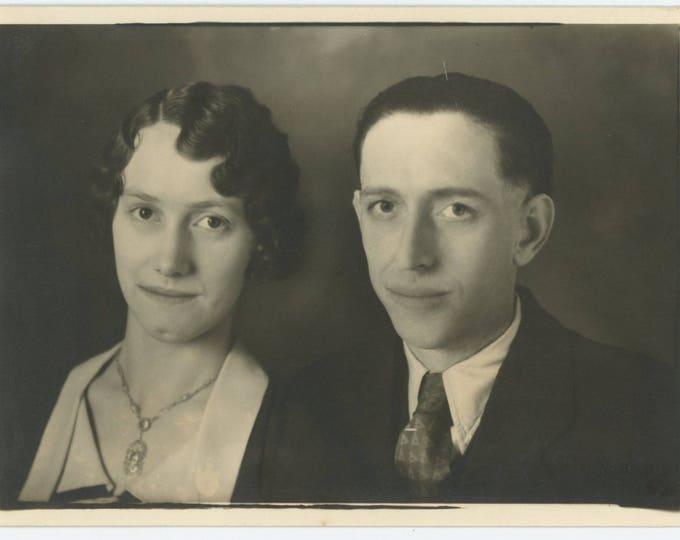 Vintage Snapshot Photo: Couple 5x7 (710616)