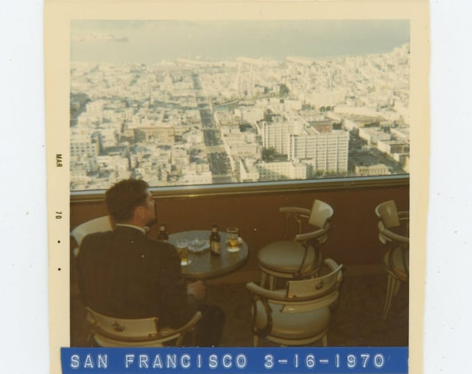 Vintage Snapshot Photo: View from Coit Tower, San Francisco, 1970 [86694]