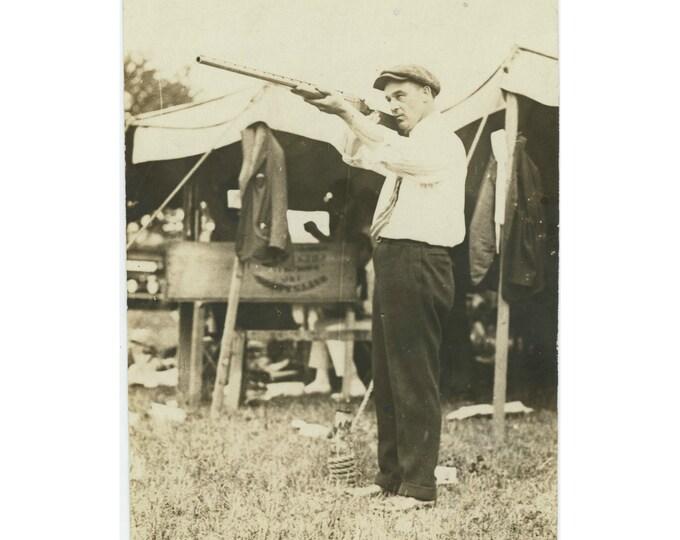 Vintage Snapshot Photo: Taking Aim [85677]