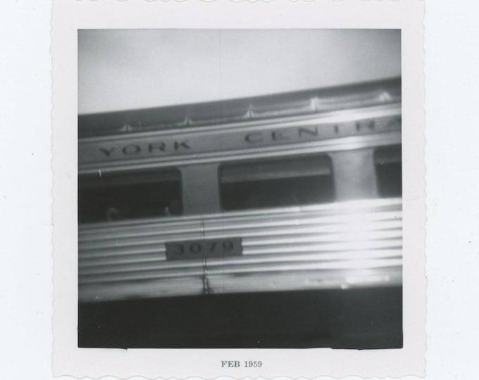 New York Central Railroad Car, 1959: Vintage Snapshot Photo [83655]
