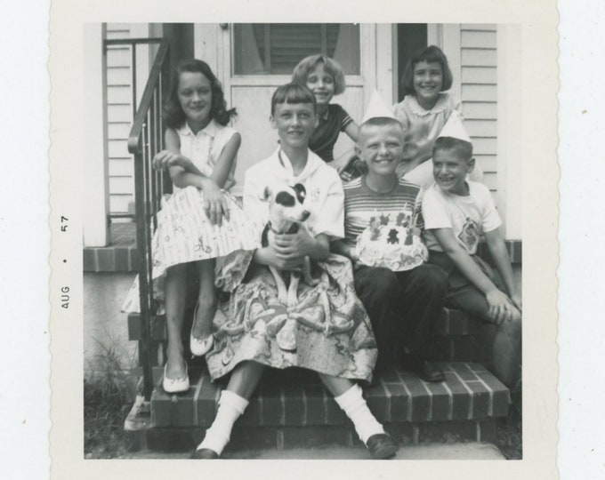 Vintage Snapshot Photo: Birthday Party, 1957 (87698)