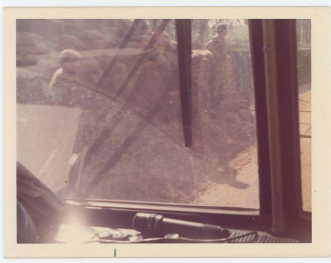 Vintage Snapshot Photo: Checkpoint, Israel, c1970s (711618)