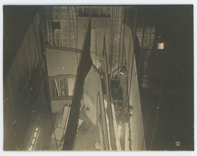 Stage View from Fly Gallery/Tower: Vintage Snapshot Photo (73553)