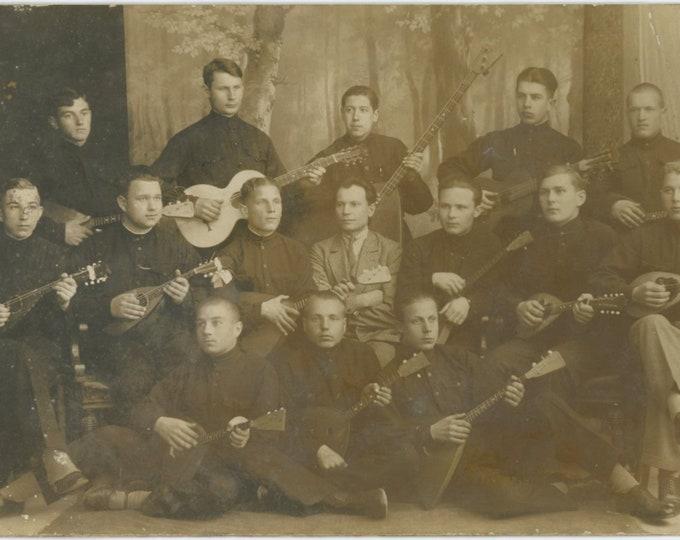 Balalaika Orchestra, Soviet Union, 1924: Vintage Photo RPPC [86681]