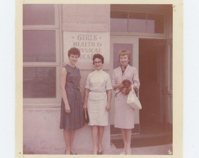 "Vintage 1964 Kodacolor Print Snapshot Photo: """"Girls Health & Physical Education"" (73555)"