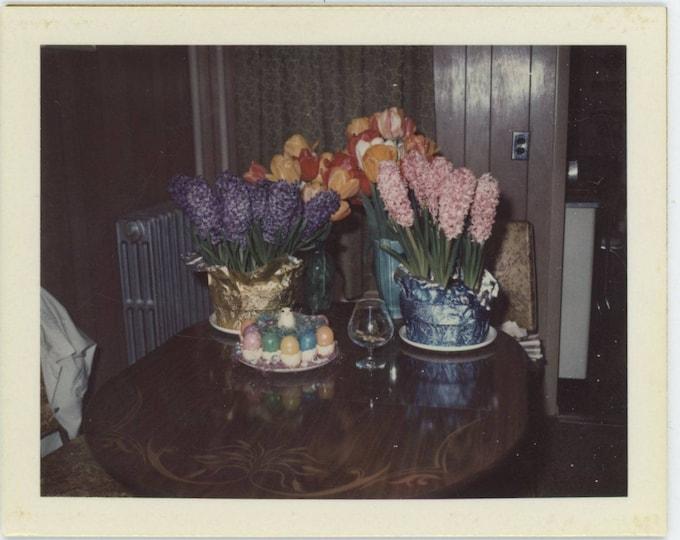 Easter Flowers, 1973: Polaroid Land Snapshot Photo [82653]