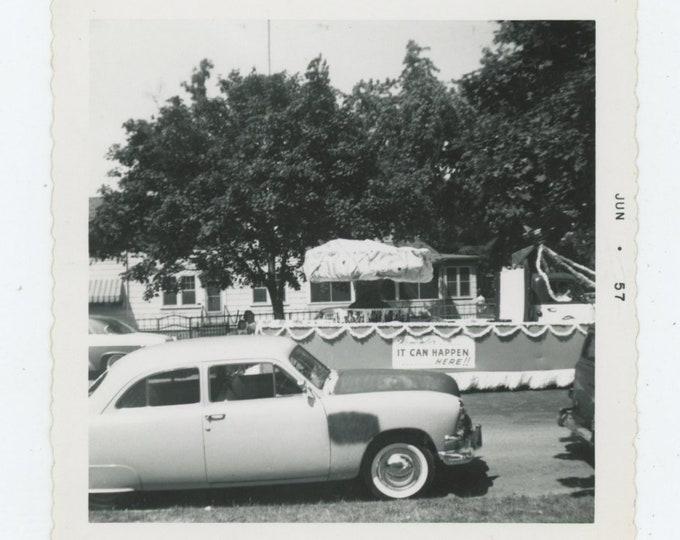 "Vintage Snapshot Photo: ""Remember...It Can Happen Here"" Glen Burnie, MD, 1957 [86696]"