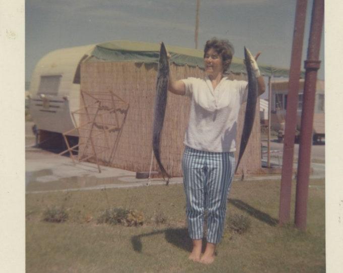 Vintage Snapshot Photo: Day's Catch [85679]