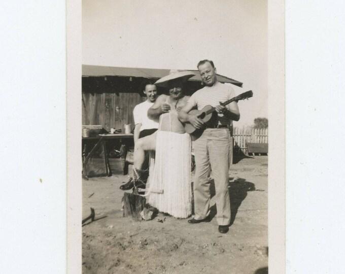 Vintage Snapshot Photo: Hula Trio (710616)