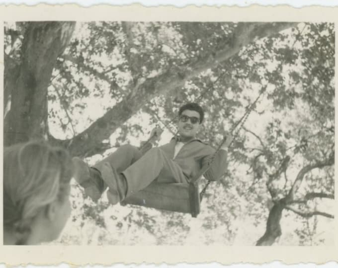 Vintage Snapshot Photo: Swing, 1958 (87701)